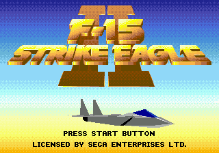 F-15 Strike Eagle II title screenshot