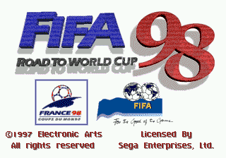 FIFA Soccer 98 - Road to World Cup title screenshot