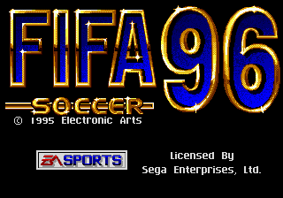 FIFA Soccer 96 title screenshot