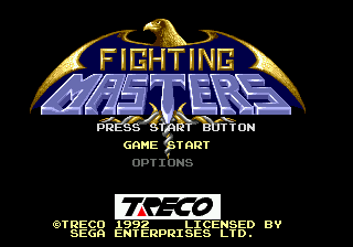 Fighting Masters title screenshot