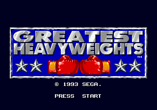 Greatest Heavyweights title screenshot