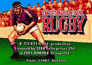 International Rugby title screenshot