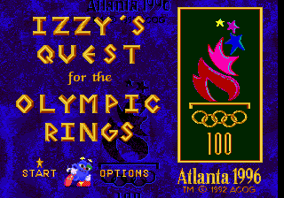 Izzy's Quest for the Olympic Rings title screenshot