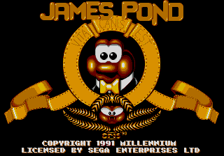 James Pond - Underwater Agent title screenshot