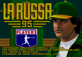 La Russa Baseball 95 title screenshot