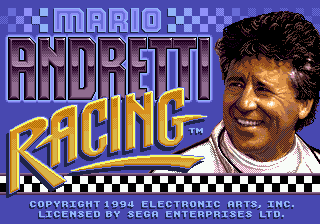 Mario Andretti Racing title screenshot