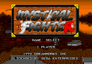 Mystical Fighter title screenshot