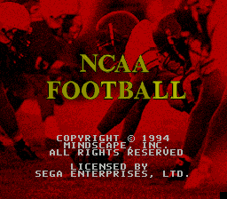 NCAA Football title screenshot
