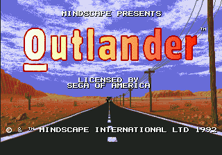 Outlander title screenshot