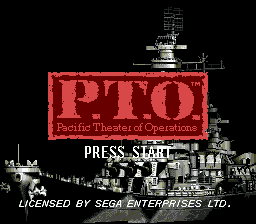 P.T.O - Pacific Theater of Operations title screenshot