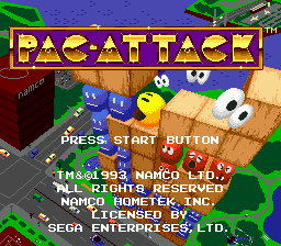 Pac-Attack title screenshot