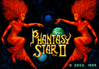 Phantasy Star II title screenshot