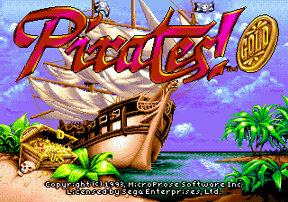 Pirates! Gold title screenshot