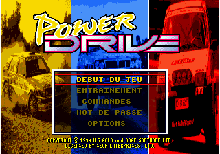 Power Drive title screenshot