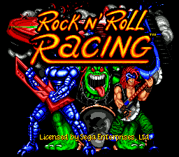 Rock n' Roll Racing title screenshot
