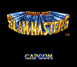 Saturday Night Slammasters title screenshot