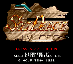 Sol-Deace title screenshot