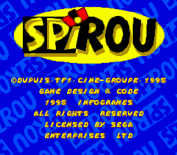 Spirou title screenshot