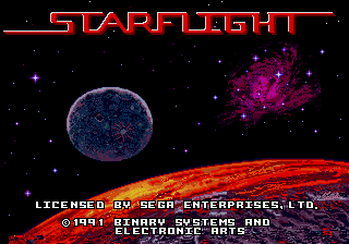 Starflight title screenshot
