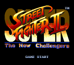 Super Street Fighter II - The New Challengers title screenshot