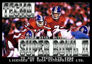 Tecmo Super Bowl II - Special Edition title screenshot