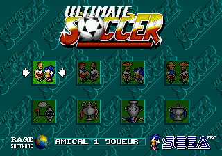 Ultimate Soccer title screenshot