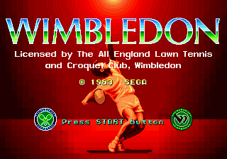 Wimbledon Championship Tennis title screenshot
