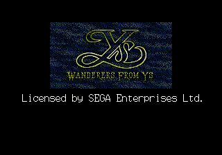 Ys III title screenshot