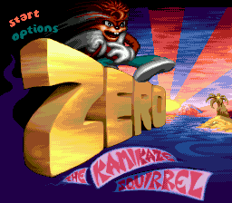 Zero the Kamikaze Squirrel title screenshot