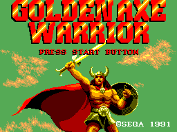 Golden Axe Warrior title screenshot