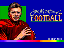 Joe Montana Football title screenshot