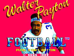 Walter Payton Football title screenshot