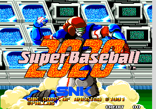 Super Baseball 2020 title screenshot