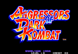 Aggressors of Dark Kombat title screenshot