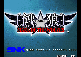Garou: Mark of the Wolves title screenshot