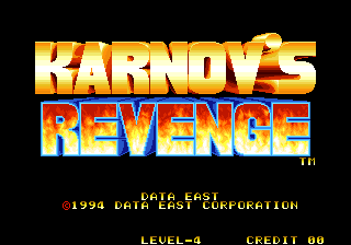 Karnov's Revenge : Fighter's History Dynamite title screenshot