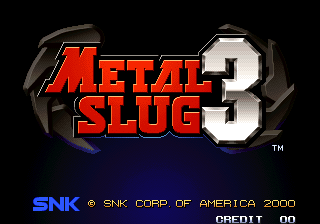 Metal Slug 3 title screenshot
