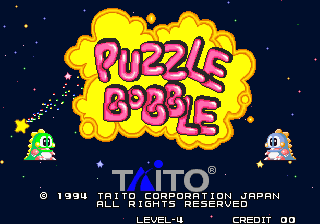 Puzzle Bobble : Bust-a-Move title screenshot