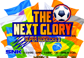 Super Sidekicks 3 : The Next Glory title screenshot