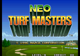 Neo Turf Masters : Big Tournament Golf title screenshot