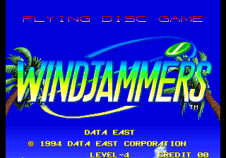 Windjammers : Flying Power Disc title screenshot