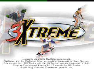 3Xtreme title screenshot