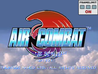 Air Combat title screenshot