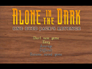 Alone in the Dark - One-Eyed Jack's Revenge title screenshot