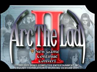 Arc the Lad Collection - Arc the Lad II title screenshot