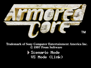 Armored Core title screenshot