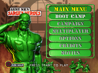 Army Men - Sarge's Heroes title screenshot