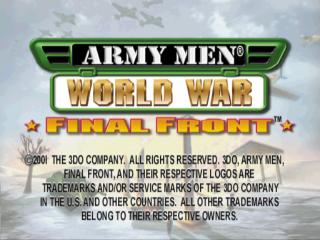 Army Men - World War - Final Front title screenshot