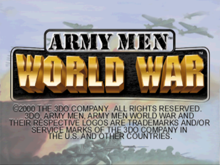 Army Men - World War title screenshot