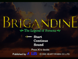 Brigandine - The Legend of Forsena title screenshot